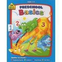 【秒杀价¥19.9】【3-5岁基础练习】School Zone Preschool Basics 学前基础练习 家庭练