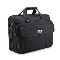 华硕联想男士商务公文包大容量单肩手提牛津布15.6笔记本电脑包