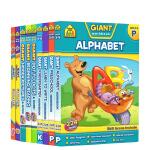 【3-8岁趣味练习9册】School Zone Giant workbook Alphabet Reading Hid