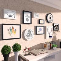 现代简约客厅沙发背景墙装饰画组合创意北欧风格挂画简欧黑白壁画 185*90