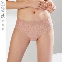 莎莲妮性感女士内裤舒适透气蕾丝中腰平角裤