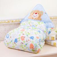 婴儿抱被秋冬可脱胆 宝宝纯棉包被新初生儿用品