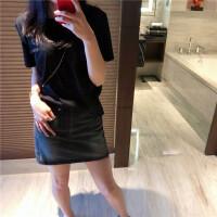 牛仔短裙女春夏装2018新款韩版做旧灰色高腰包臀裙牛仔裙半身裙潮 深灰色
