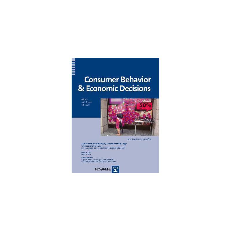 【预订】Consumer Behavior & Economic Decisions 美国库房发货,通常付款后3-5周到货!
