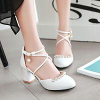 新款女童凉鞋时尚舞台舞蹈演出主持鞋儿童公主高跟鞋