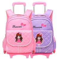拉杆书包女6-12周岁小学生书包拉杆架儿童手拉书包拉杆式女孩背包