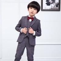 儿童西装套装三件套2018新款小孩西服帅气花童礼服男童小西装套装
