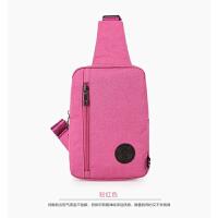男包胸包单肩包斜挎包 女包休闲情侣包包背包骑行包 粉红色