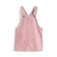 女童裙子儿童吊带裙纯棉灯芯绒小孩连衣裙女背心裙童装6845