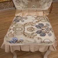 欧式餐椅垫套装四季通用椅子坐垫美式餐桌布艺凳罩定做椅背套定制!