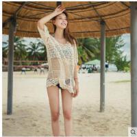 比基尼罩衫海边外搭女士bikini外套沙滩裙防晒衫韩国镂空泳衣