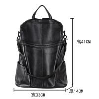 双肩包女韩版2018新款真皮女士软皮包两用大容量电脑背包旅行大包SN9770
