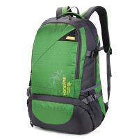 包包2018新款户外运动旅游背包女款双肩包登山包男士大容量旅行包 绿色