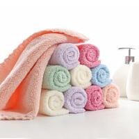 【一件包邮】卡伴花边方巾装超柔强吸水方巾10混色装 10条混色装
