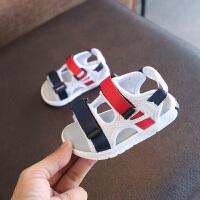 新款男宝宝学步凉鞋夏女幼儿透气软底防滑婴儿沙滩鞋