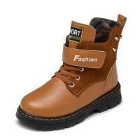 男童棉鞋3加绒真皮鞋冬季5儿童穿7小孩马丁靴4-13岁6男孩子冬靴10