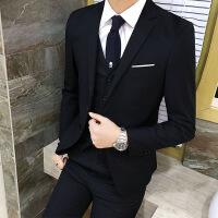 №【2019新款】冬天穿的商务西服套装新婚宴会男生端庄结婚礼服三件套新郎冬天职业