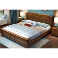 实木床1.8米双人床新中式简约现代1.5M主卧2米床经济型高箱储物床 1500mm*2000mm 气压结构