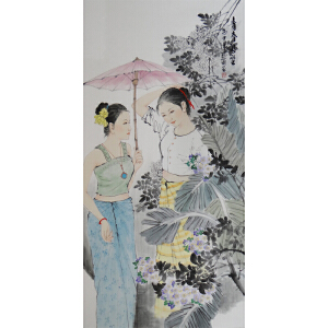 现代画家   杨丽   青春闺蜜   /3-69