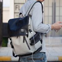 韩版时尚背包男大高中学生书包潮牌电脑包男包包皮包男士双肩包男