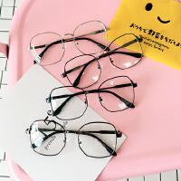 韩国韩版复古方形眼镜框 情侣眼镜男女平光镜文艺复古眼镜架潮