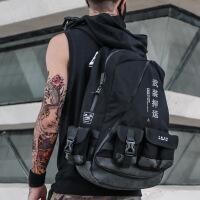 时尚男士户外双肩背包男 女电脑包大容量旅行旅游登山包学生书包