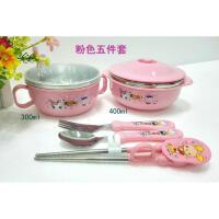 W 儿童碗筷碗餐具套装宝宝学习筷训练筷防摔碗水杯勺子叉子B31