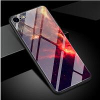 iPhone8玻璃手机壳8P苹果7plus保护套软太空宇宙星球地球极光文艺 玻璃壳苹果7/8宇宙 (9)
