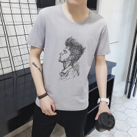 夏装男士短袖t恤韩版圆领打底衫潮流半袖上衣服男生体恤DS92