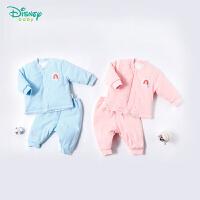 迪士尼Disney童装 女童秋装新款冬季卡通公主夹棉内衣宝宝立领可开档家居休闲套装184T817
