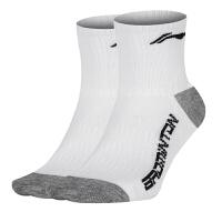 李宁(LI-NING) 羽毛球袜 运动袜 中筒袜1双装均码