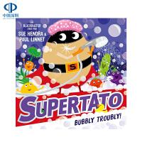 【预售英文原版】Supertato: Bubbly Troubly 土豆超人与泡沫 Supertato系列 趣味插图绘本