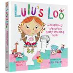 露露上厕所 英文原版绘本Lulu's Loo 我爱露露系列 华研原版 趣味翻翻书 精装触摸操作书机关书 儿童启蒙如厕训