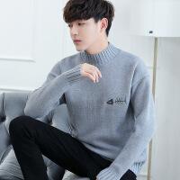 半高领毛衣男士修身上衣服秋冬季外套加厚潮流学生毛线衣男针织衫