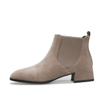 切尔西短靴女2018秋冬平底马丁靴英伦风女鞋及踝靴粗跟女靴子