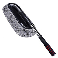 洗车拖把伸缩式纯棉专用扫灰不伤车多功能汽车用刷子擦车除尘掸子