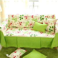 乐唯仕沙发套沙发罩夏季纯棉布艺垫全包盖欧式四季通用防尘定做制