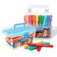?水溶性炫绘旋转油画棒24色36色可水洗儿童蜡笔宝宝画笔彩?