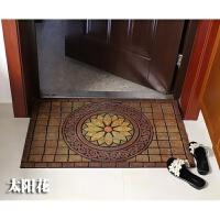 大门地垫入户门垫门口半圆地垫室外橡胶塑料地毯门前进门脚垫 长88x宽58/