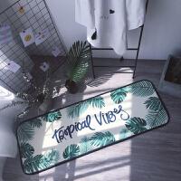 ins北欧潮牌长条地垫进门脚垫厨房卧室床边飘窗垫可机洗地毯防滑