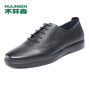 木林森男鞋 2018春夏新款系带商务休闲皮鞋  05187105