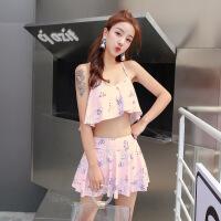 新款泳衣女时尚性感分体裙式平角两件套温泉韩国小香风游泳衣