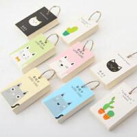 韩国创意便签本小本子单词英语环扣式记忆卡片空白迷你便携随身