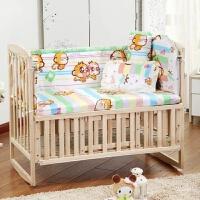 棉料可拆洗床围宝宝床品棉宝宝床围五件套婴儿床防撞防风用品a378