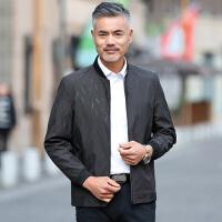 茉蒂菲莉 外套 男士立领长袖薄款拉链爸爸装秋季新款男式时尚休闲舒适百搭中老年夹克