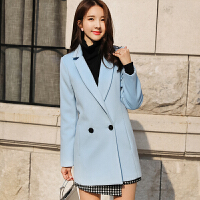 宽松呢子大衣2018秋冬季新款韩版女中长款加厚毛呢外套