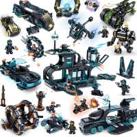 儿童汽车8拼插机甲12岁礼物积木未来警察拼装玩具 6男孩