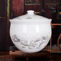 景德镇瓷器10斤20斤陶瓷米缸带盖储蓄罐米桶腌菜腌肉坛子 mg2