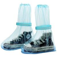 户外旅行防雨鞋套 中高筒水鞋 男女防水雨靴套 蓝色 L 长29cm 宽11.8cm