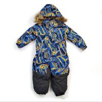 儿童连体滑雪服冬季保暖连帽服防水透气男童小童哈衣